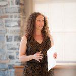 Megan Hamilton presenting